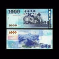 TRAVEL BACKPACKER KOLEKSI UANG TAIWAN 1K UNC ORIGINAL HOLOGRAM BANKNOT