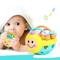 Mainan Anak Rattle Genggam Bayi Bentuk Bola Dengan Lonceng Kerincingan
