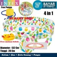 Kolam Renang Bermain Anak Intex 59469 + Pelampung+Bola+Pompa+Bebek