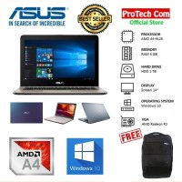 "LAPTOP ASUS X441BA - AMD A4 9125 4GB 1TB VGA AMD R3 14"" WIN10 RESMI"