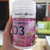 Vitamin D3 1000iu healthycare isi 250 caps asli Ausie
