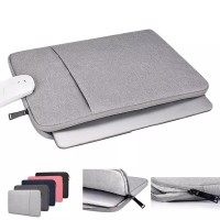 Tas Laptop / SoftCase Nylon Waterproof 14 inch - Abu Abu