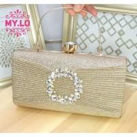 TAS PESTA WANITA PARTY BAG CLUTCH PREMIUM IMPORT MYLO MC3A90 - MILO
