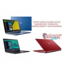 LAPTOP ACER AMD A4-9120 RAM 4GB HDD 1TB WIN ORI