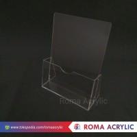 Acrylik tempat brosur/Display brosur A5