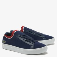 Lacoste Men La Piquee Textile Leather Sneaker