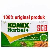 Komix Herbal Original - Dus Isi 6 Sachet - Sirup Obat Batuk