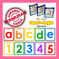 Flashcard Alfabet Huruf & Angka .Kartu Belajar abc 123 Alphabet Number