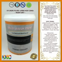Cat Primer Wash Paint Motif Semen - Medium Grey - Kemasan 1Kg