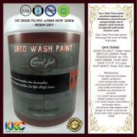 Kemasan 5Kg - Cat Primer Wash Paint Motif Semen - Medium Grey
