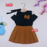Dress Rachel uk Bayi 3-12 Bulan / Dres Model Kensi Baju Baby Perempuan