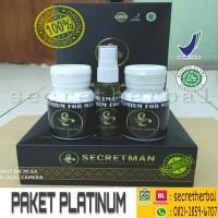 Paket Platinum Herbal Secretman Obat Suplemen Pria Kuat Asli Original