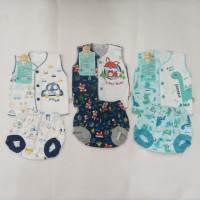 libby baju setelan bayi kuntung motif nb & 3-6 - 0-3 Bulan