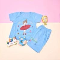 Baju Setelan Pendek Anak Perempuang Cute Girl 1-4 thn