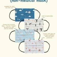 Mooi Washable Mask for Kids and Adult