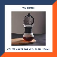Coffee Maker Pot V60 Drip Kopi With Filter 200ml
