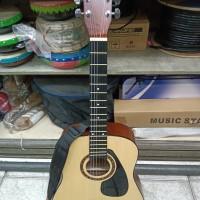 Guitar Gitar Puteran Besi + Strap