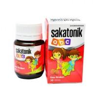 Sakatonik ABC Anak Rasa STROBERI 1 Botol isi 30 Tablet | Vitamin Anak