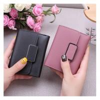 W37 Dompet Pendek Wanita Simply Square Women Short Wallet