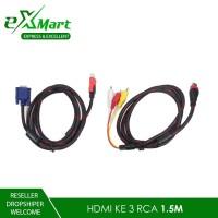 KABEL HDMI KE RCA 1.5 METER / CABLE VGA TO HDMI 1.5 METER TV AUDIO - HDMI TO 3RCA