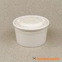 Paper Cup Ice Cream/Es Krim 5 oz Garis + Tutup