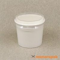 Paper Cup Ice Cream/Es Krim 4 oz + Tutup Bening