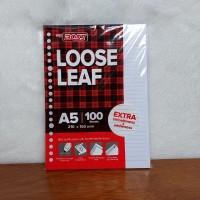 KERTAS BINDER LOOSE LEAF A5/20RING ISI 100 LEMBAR