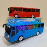 Mainan Bus Tayo Bump Go Batre - Mobil Bis Anak Baterai Edukatif