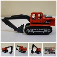 Diecast Truck Excavator Alloy - Miniatur Truk Beko Keruk Kontruksi