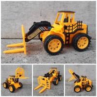 Mainan Truk Forklift Edukasi Anak - Miniatur Truck Traktor Angkut