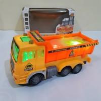 Mainan Dump Truk Bump Go Edukatif - Mobil Truck Tanah Baterai Anak