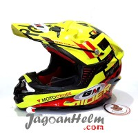 GM HELM SUPER CROSS RIDER X SE | YELLOW FLUO RED | MOTOCROSS TRAIL