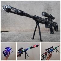Mainan Senapan Sniper Laser Light Sound Tembak Tembakan Anak Edukasi