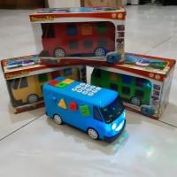 Mainan Bus Tayo Bisa Jalan Light Sound Mobil Bis Anak Edukatif Batre