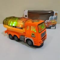 Mainan Truk Tanki Bump Go Edukatif - Mobil Truck Tangki Batre Anak