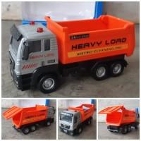 Diecast Mobil Truk Sampah Alloy Pullback - Miniatur Dump Truck
