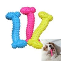 Mainan Kunyah Anjing Bentuk Tulang Bahan Karet Tahan Gigit