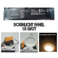 Lampu Downlight Panel LED Inbow Flicker Free Chips 18watt 18 watt 18w