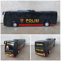 Mainan Mobil Bus Polisi - Miniatur Bis Brimob Dorong Anak Edukatif