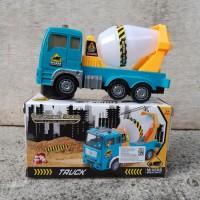Mainan Truk Molen Bump Go Edukatif - Mobil Mixer Truck Anak Baterai
