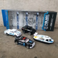 Diecast Set Truk Police - Mainan Miniatur Mobil Polisi Anak Edukatif