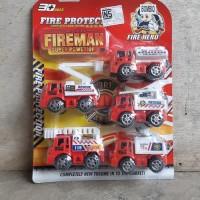 Mainan Set Mobil Pemadam Kebakaran - Fire Truk Car Anak Edukatif