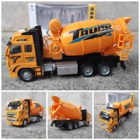 Diecast Truk Molen Besar 132 Alloy - Miniatur Mixer Truck Kontruksi