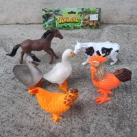 Mainan Set Animal Unggas Hewan Ternak Karet - Binatang Anak Edukasi