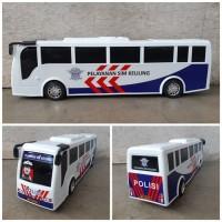 Mainan Mobil Bus Sim Polisi - Miniatur Bis Dorong Anak Edukatif