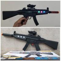 Mainan Senapan Serbu Light Sound Batre - Tembak Tembakan Anak Batere