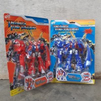 Mainan Robot Berubah Bentuk Dinosaurus Transformers Dino Anak Edukatif