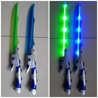 Mainan Pedang Lampu Led Bersuara Edukasi - Pedangan Anak Edukatif
