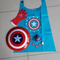 Mainan Set Tameng Capt America - Paket Cosplay Perisai Avengers Anak