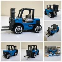 Diecast Truck Forklift Alloy - Miniatur Truk Alat Berat Kontruksi